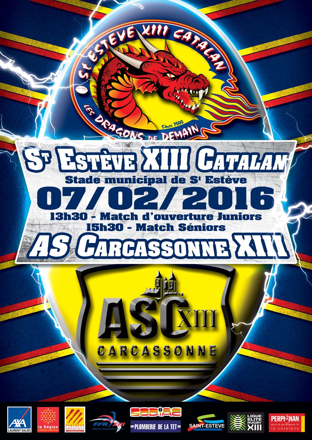 dragons catalans actualit s 2016 fev la r serve re oit carcassonne ce week end. Black Bedroom Furniture Sets. Home Design Ideas