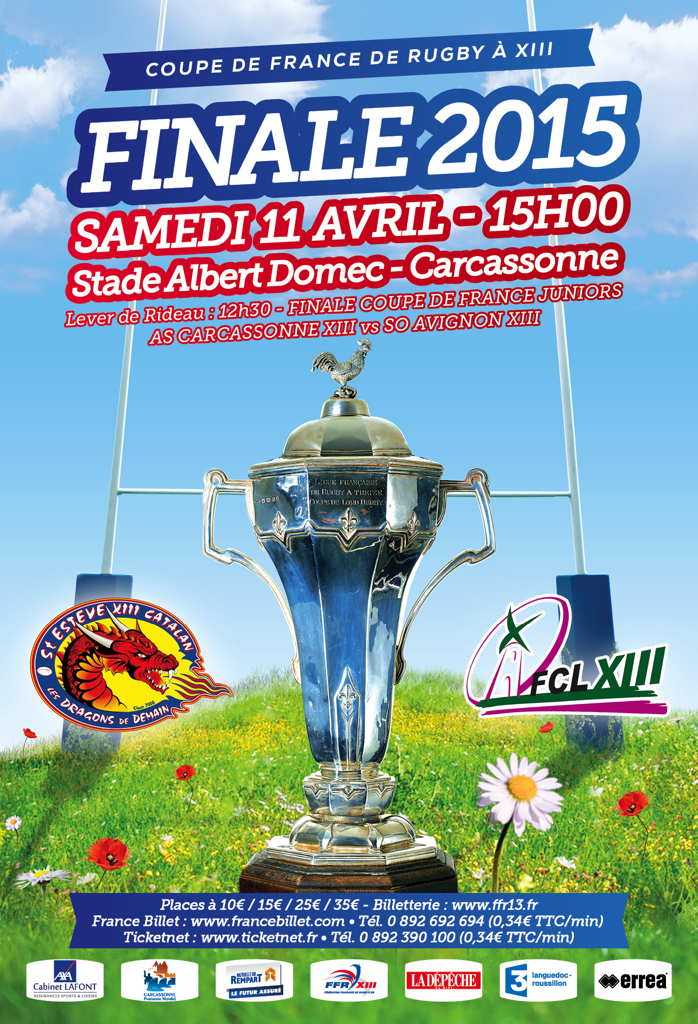 Dragons catalans actualit s 2015 avril bus finale coupe de france - Places finale coupe de france ...