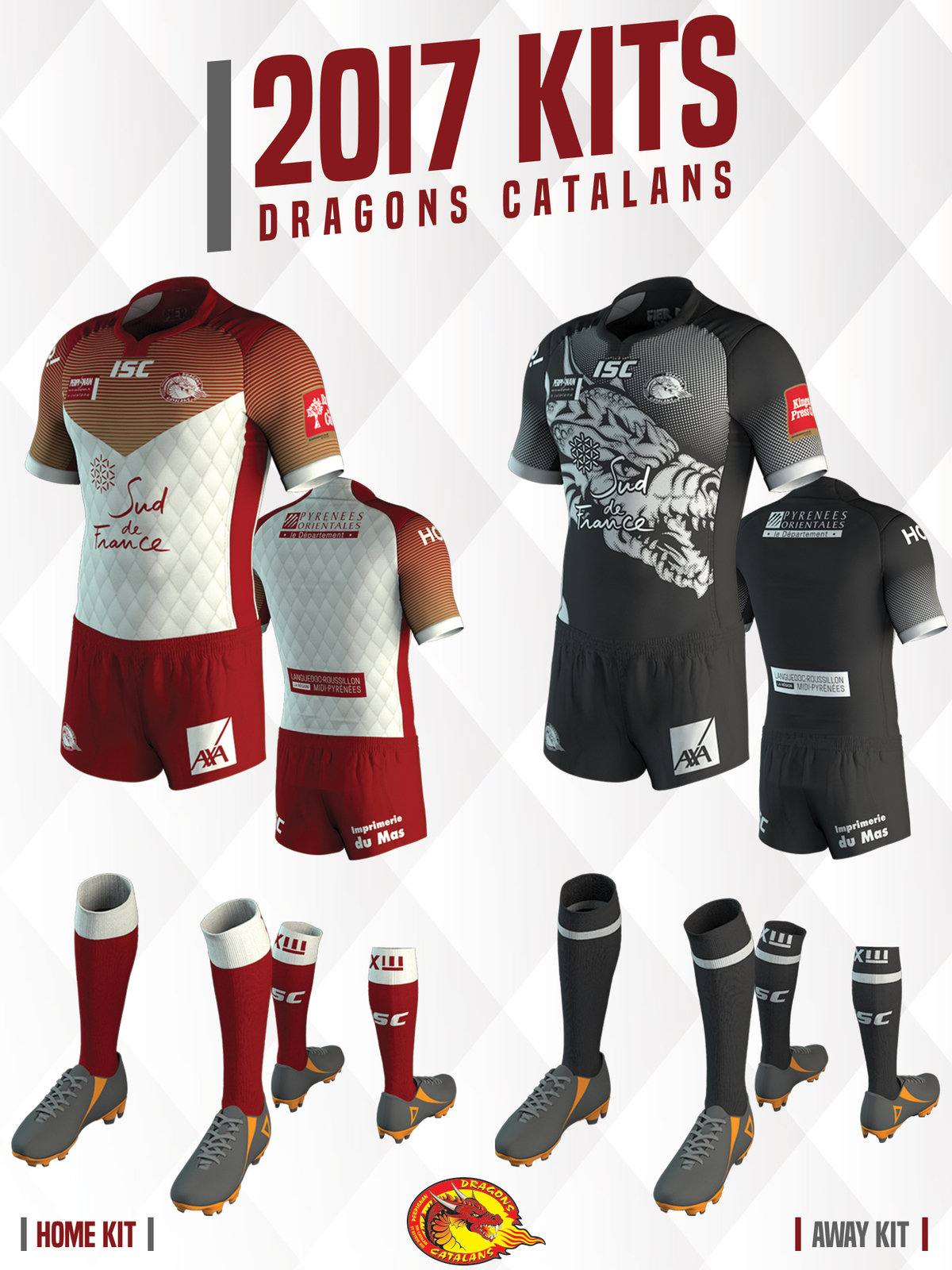 af8eb6b57 Dragons Catalans › News › 2016 › Nov. › Dragons Unveil 2017 Kits