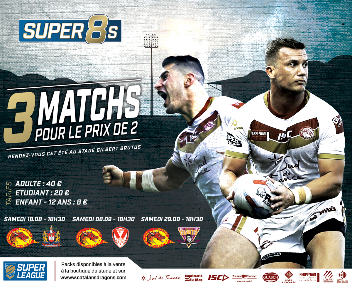 Super Rugby Calendrier.Dragons Catalans Actualites 2018 Aout Super 8 S