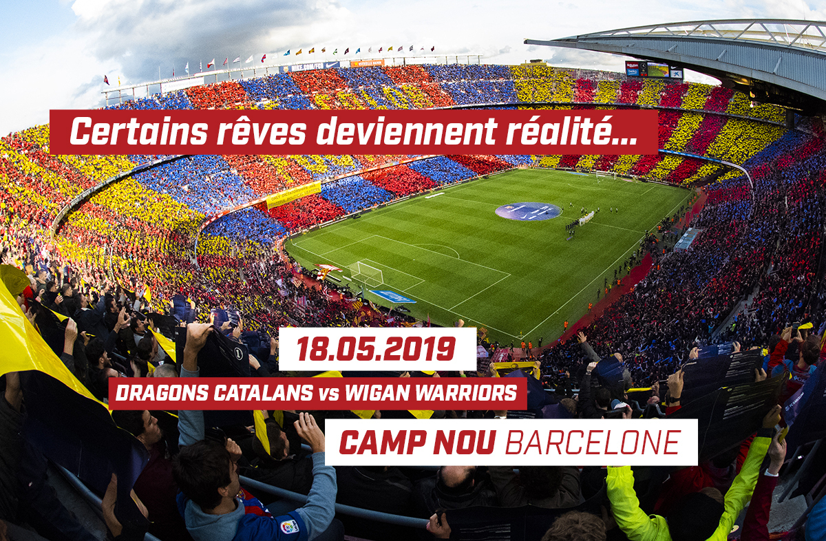 Dragons Catalans News 2019 Feb Camp Nou Ticket